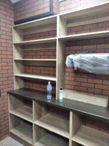 Полки стеллажи на заказ в квартиру Новосибирск